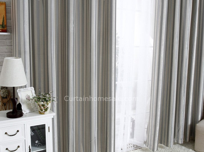Image of All-match silver curtains make the living room full of vitality