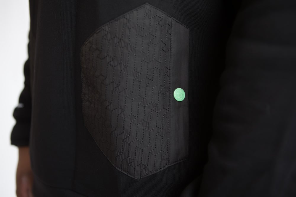 Image of MONO BLACKOUT HOODED CREWNECK