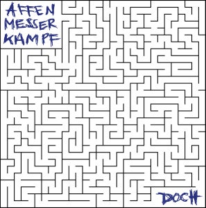 Image of AFFENMESSERKAMPF- doch LP (WHITE vinyl w/ blue vinyl)
