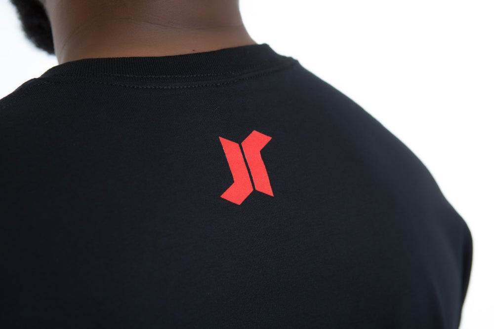 Image of KEYS OPEN DOORS TEE (BLACK/RED)