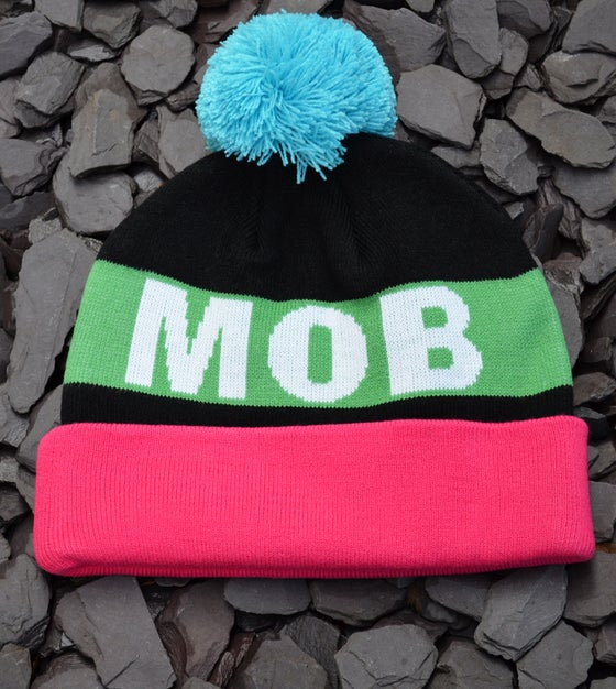 Image of MOB RULE BOBBLE BEANIE