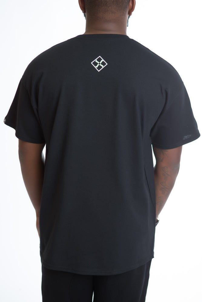 Image of DEATH STAR TEE (BLACK/MINT)
