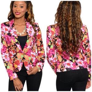 Image of Floral blazer