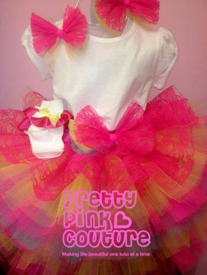 Image of Pink Rainbow Tutu Outfit