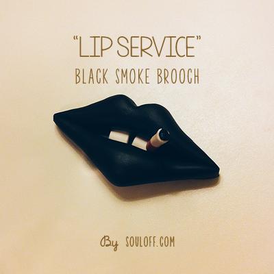 Image of Black Smoke Brooch