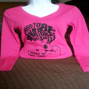 Image of NATURAL BEAUTY Tee (Fushia) Longsleeve