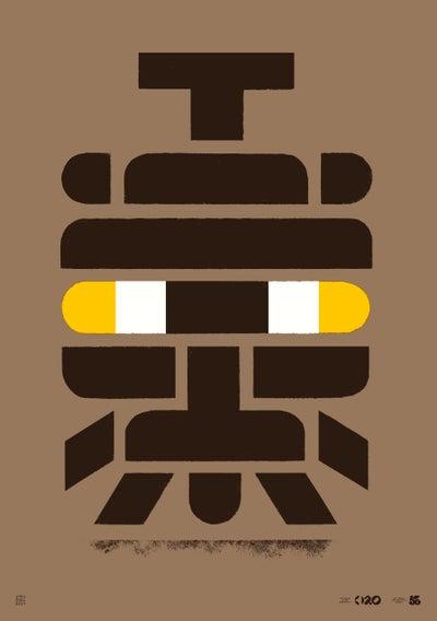 Image of Büro Destruct - Tribler Afro (Poster)