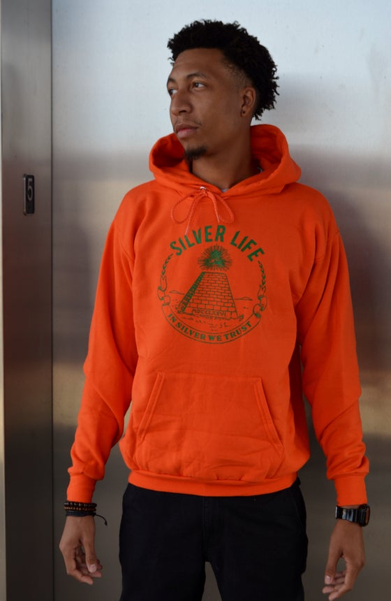 Image of Hunter Orange/Hunter Green Hoodie
