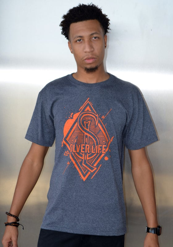 Image of Grey and Orange SL Diamond Graphic