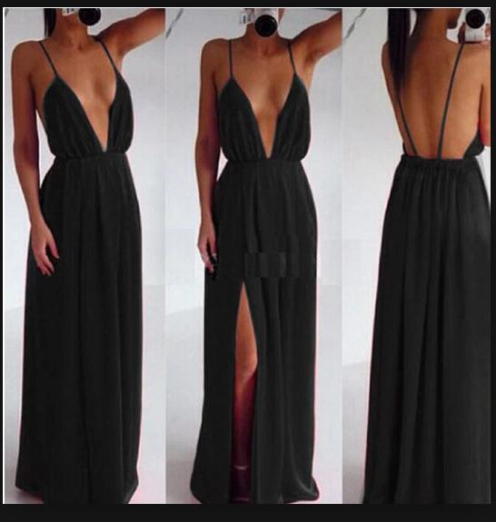 Image of FASHION DEEP V CUTE DESIGN DRESS 1001203
