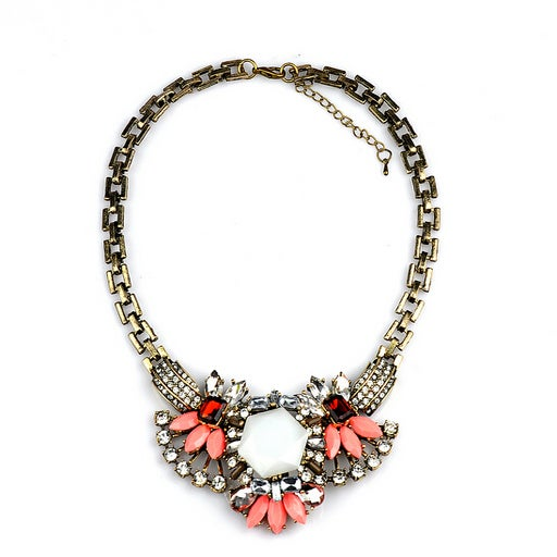 Image of CORAL GEMMED NECKLACE
