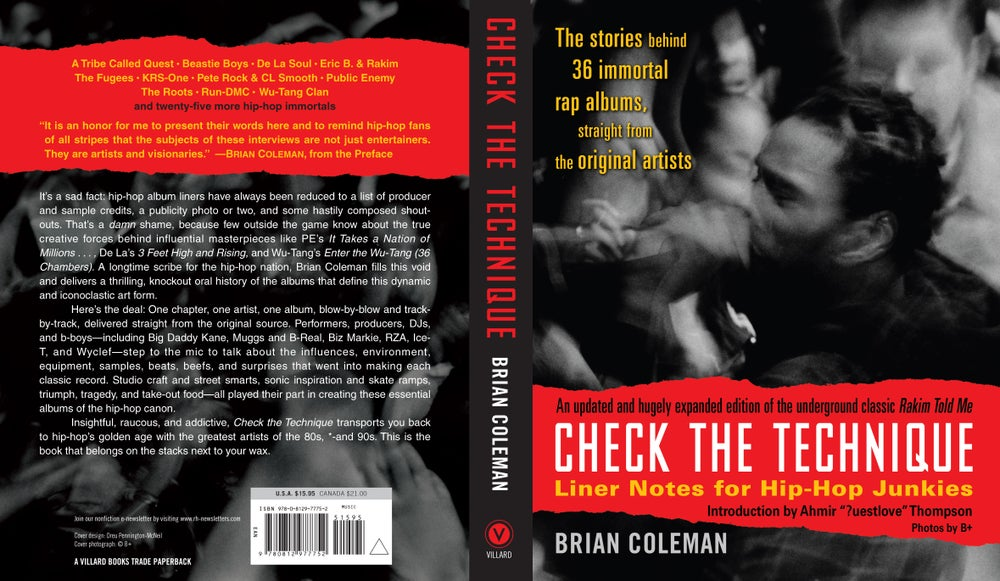 """Image of """"Check the Technique Volume 1"""" Hip-Hop book (2007) - SIGNED by author"""