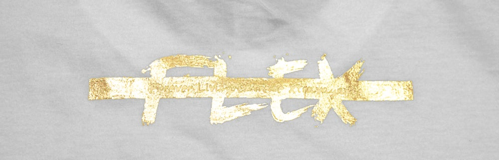 Image of Gold Logo T-Shirt - White