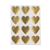 Image of Gold Heart Stickers