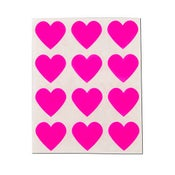 Image of Neon Pink Heart Stickers