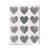 Image of Silver Heart Stickers