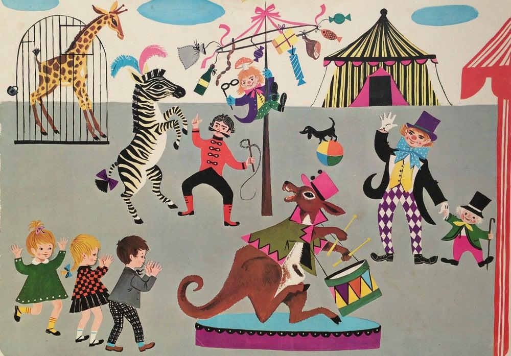 Image of Retro School Poster - Circus Animals 1966