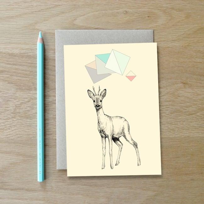 Image of Carte postale Chevreuil + enveloppe