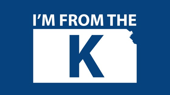 "Image of ""I'm from the K"" Standard Crew Neck Tee [BLU/WHT]"