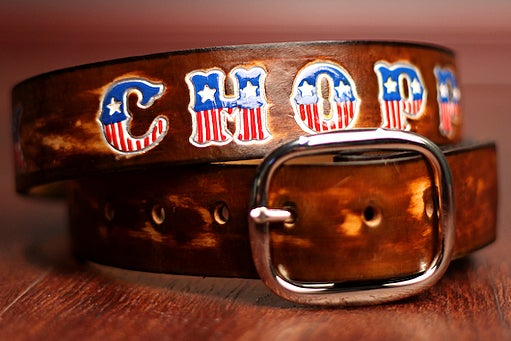 Image of Custom Leather EXTRA LARGE Dog COLLAR 29 to 35 Plus Inches Long