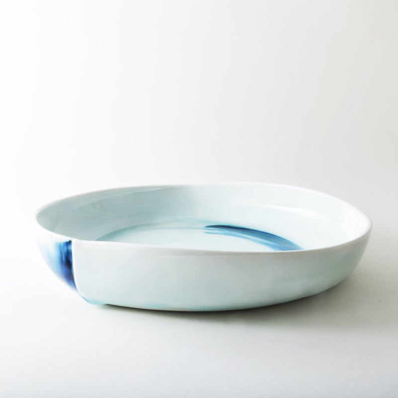 Image of blue and white porcelain dish