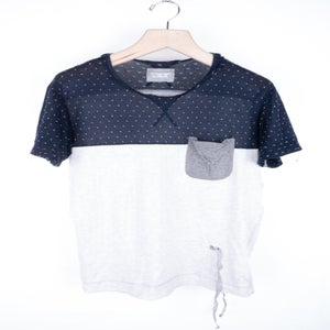 Image of theSoloist - s.0126 Dots Yoke Contrast Tee