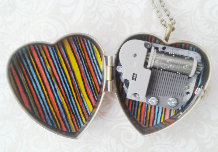 Image of Little Wing Music Box Locket - Mod Colours