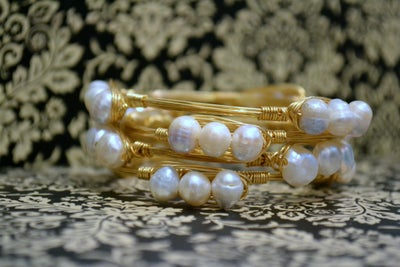Image of Fresh Water Pearl bangle