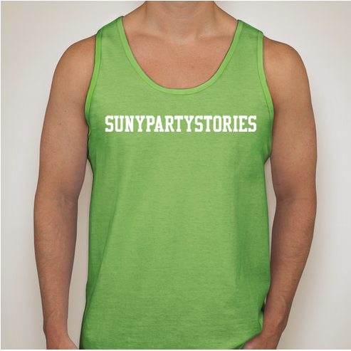 Image of SUNYPARTYSTORIES TANK - GREEN