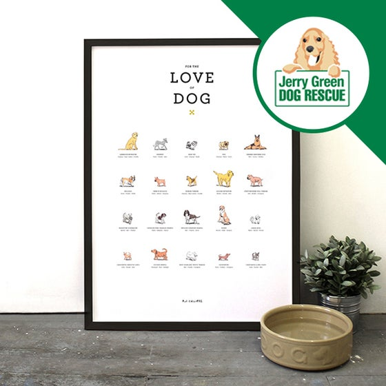 Image of For the Love of Dog - Breeds Print