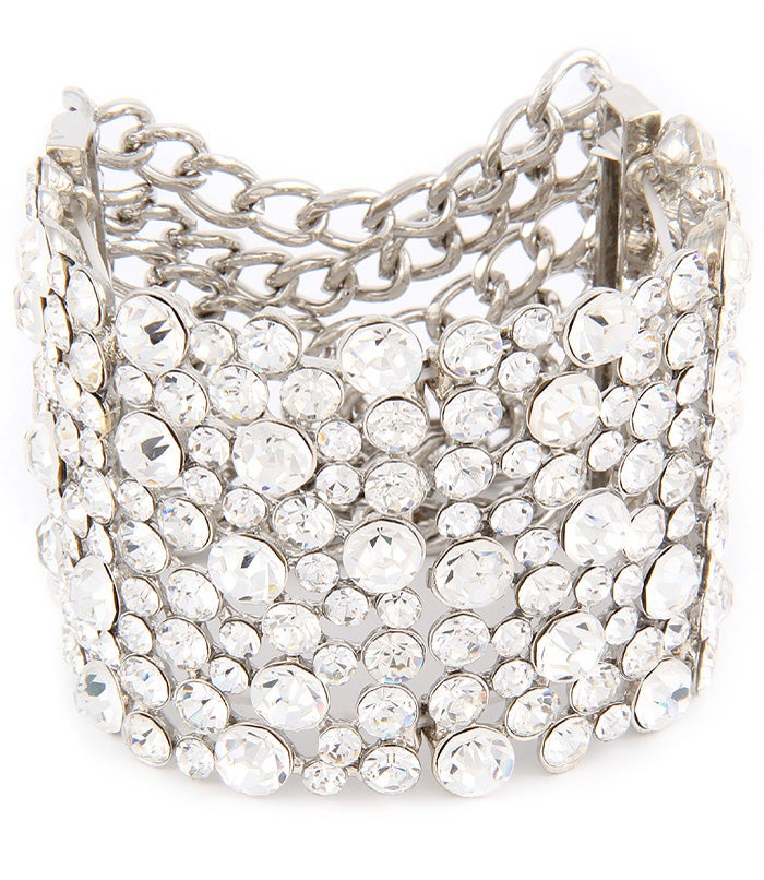 Image of CRYSTAL STUDS STRETCH BRACELET