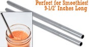 Image of Stainless Steel Straw - 2 pack smoothie