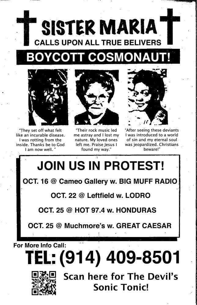Image of Cosmonaut Propaganda Poster - CMJ 2014