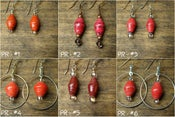 Image of Earrings - Pink/Red