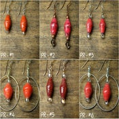Image of Earrings - Pink/Red