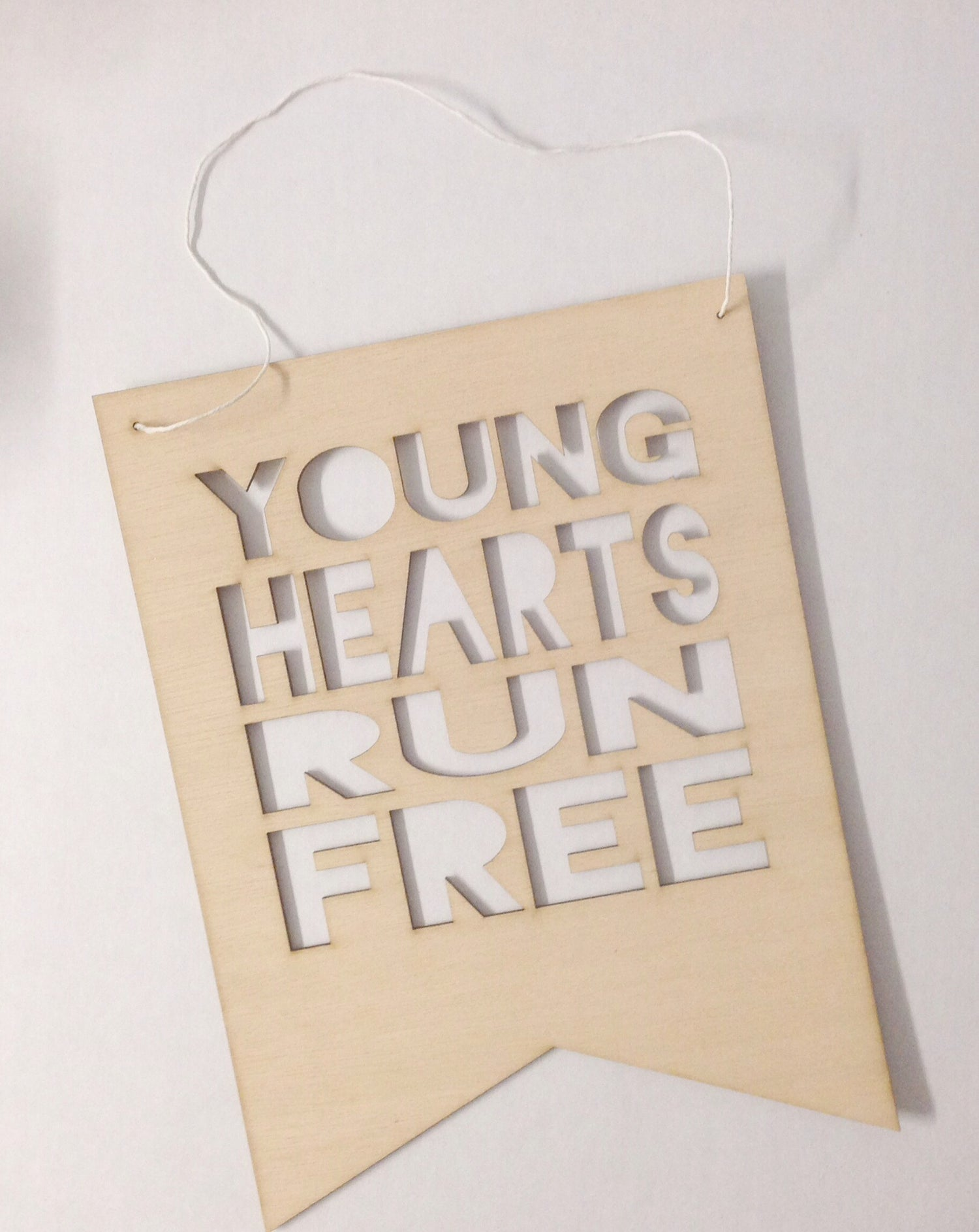 Image of YOUNG HEARTS RUN FREE FLAG