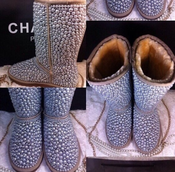 Image of Womens Diamond & Pearls Boots