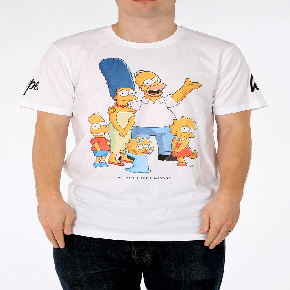 Image of HYPE X SIMPSONS. FAMILY PORTRAIT TSHIRT