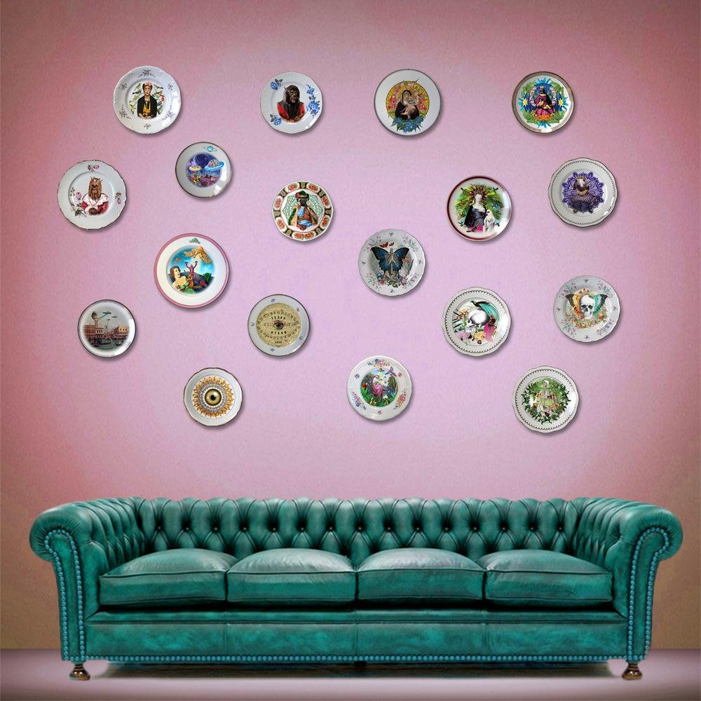 Image of Deer family - Porcelain Plate - #0405