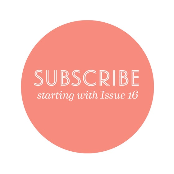Image of Subscribe! Starting with Issue 16: Change