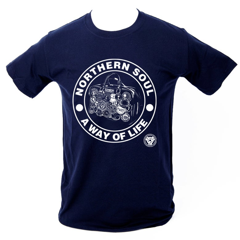 Image of 'A Way Of Life' T-Shirt. NAVY BLUE