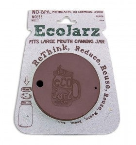 Image of Wide Mouth Brown Ecojarz Silicon Lid