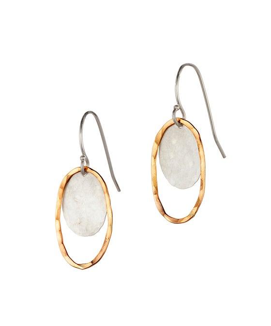 Image of Oval Halo Earrings