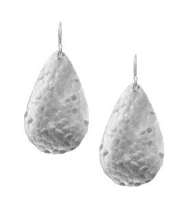 Image of Teardrop Hammered Disk Earrings