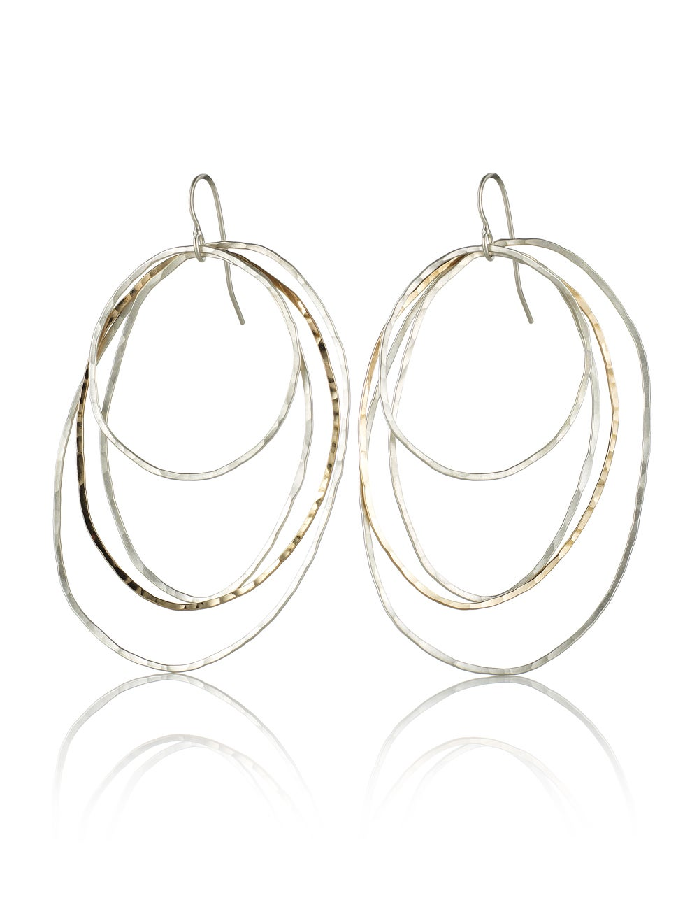 Image of Four Organic Oval Earrings