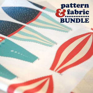 Image of Hot Air Balloon Pattern and Fabric Panel Bundle