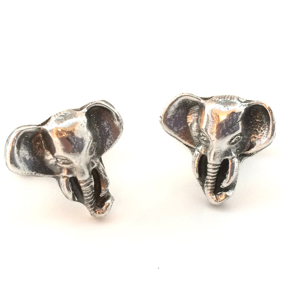 Image of Elephant Face Cuff Links