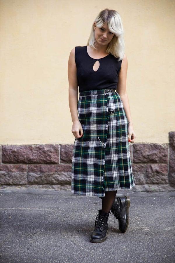 Image of Vintage Tartan Kilt Skirt