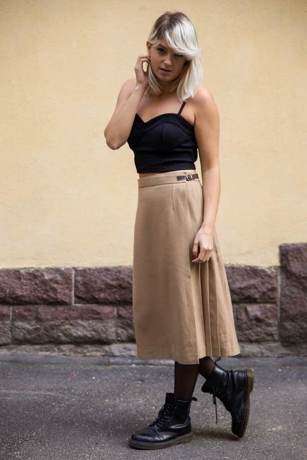 Image of Vintage Wool Kilt Skirt