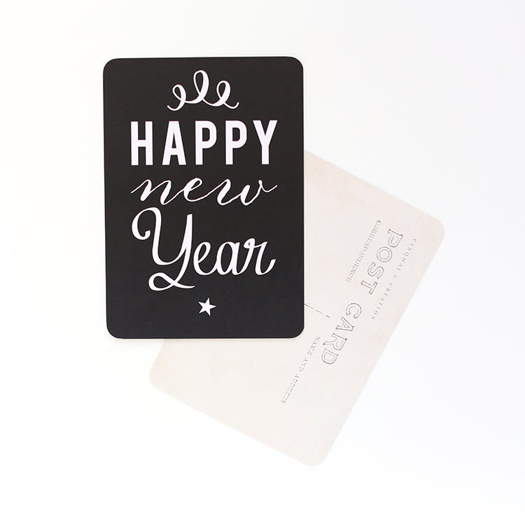 "Image of Carte Postale""HAPPY NEW YEAR / ANNA / ARDOISE"""
